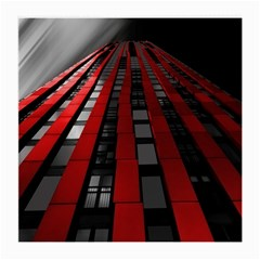 Red Building City Medium Glasses Cloth