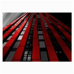 Red Building City Large Glasses Cloth Front