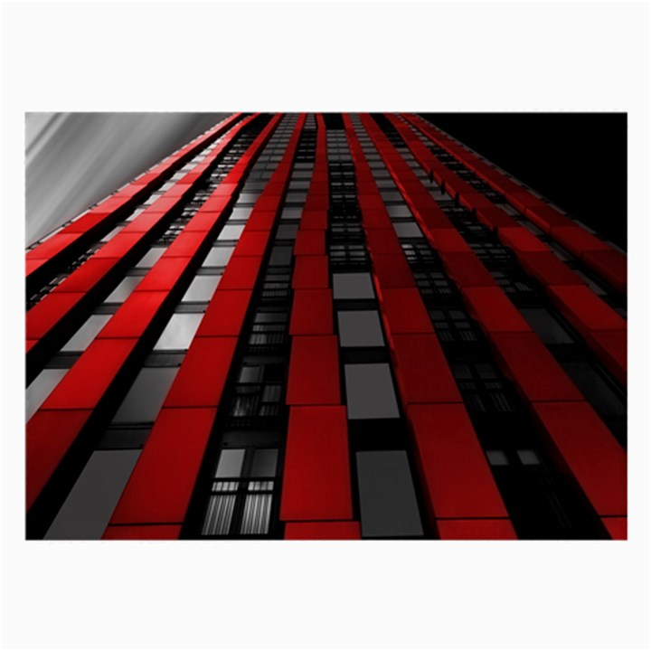 Red Building City Large Glasses Cloth (2-Side)
