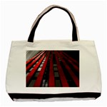 Red Building City Basic Tote Bag (Two Sides) Back