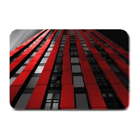 Red Building City Plate Mats
