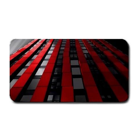 Red Building City Medium Bar Mats