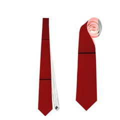 Red Building City Neckties (One Side)