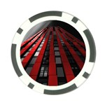 Red Building City Poker Chip Card Guards Front