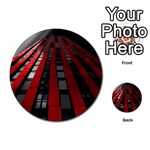 Red Building City Multi-purpose Cards (Round)  Front 45