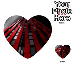 Red Building City Multi-purpose Cards (Heart)