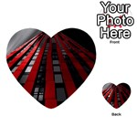 Red Building City Multi-purpose Cards (Heart)  Back 12