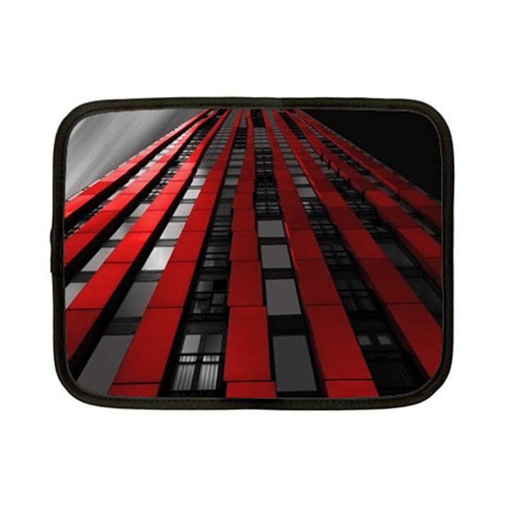 Red Building City Netbook Case (Small)