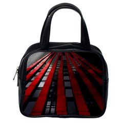 Red Building City Classic Handbags (One Side)