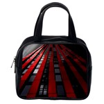 Red Building City Classic Handbags (2 Sides) Back