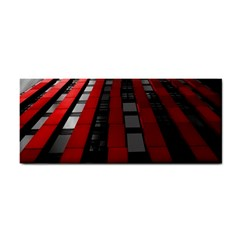 Red Building City Hand Towel
