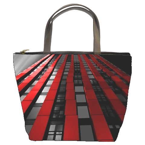 Red Building City Bucket Bags