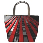 Red Building City Bucket Bags Front