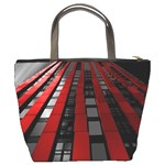 Red Building City Bucket Bags Back