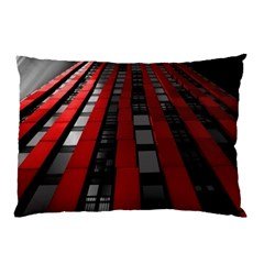 Red Building City Pillow Case