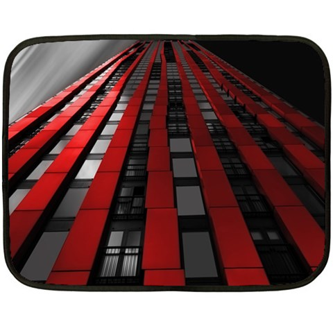 Red Building City Fleece Blanket (Mini)