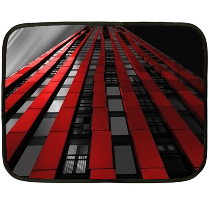Red Building City Fleece Blanket (Mini)