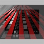 Red Building City Mini Canvas 7  x 5  7  x 5  x 0.875  Stretched Canvas