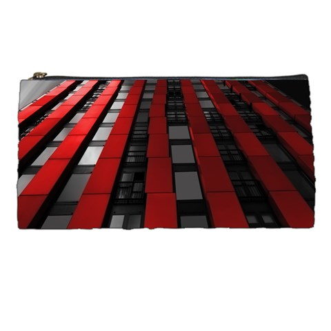 Red Building City Pencil Cases