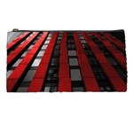 Red Building City Pencil Cases Front
