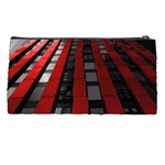 Red Building City Pencil Cases Back