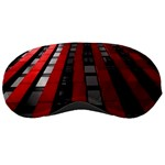 Red Building City Sleeping Masks Front