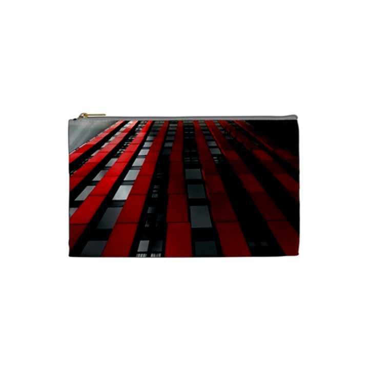 Red Building City Cosmetic Bag (Small)