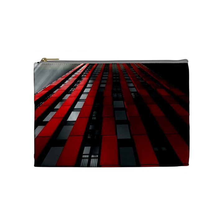 Red Building City Cosmetic Bag (Medium)