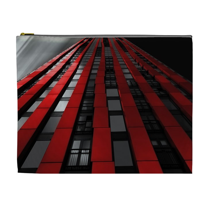 Red Building City Cosmetic Bag (XL)