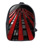 Red Building City School Bags(Large)  Front