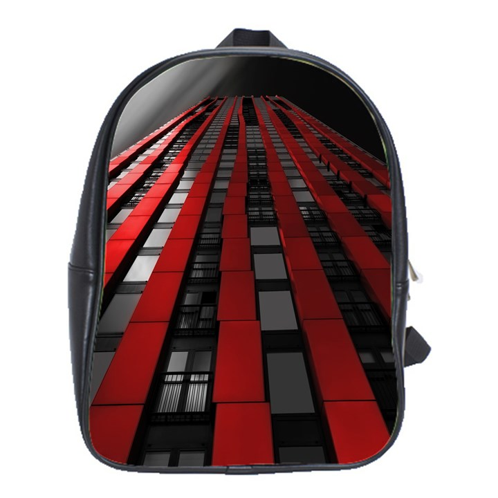 Red Building City School Bags(Large)