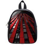 Red Building City School Bags (Small)  Front