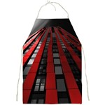 Red Building City Full Print Aprons Front