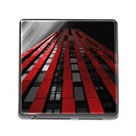 Red Building City Memory Card Reader (Square) Front