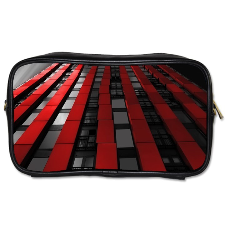 Red Building City Toiletries Bags 2-Side