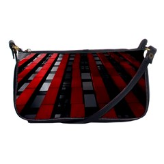 Red Building City Shoulder Clutch Bags