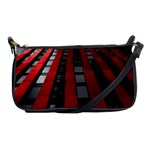 Red Building City Shoulder Clutch Bags Front
