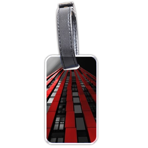 Red Building City Luggage Tags (Two Sides)