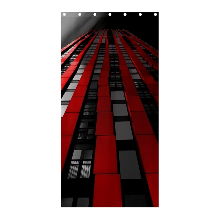 Red Building City Shower Curtain 36  x 72  (Stall)