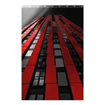 Red Building City Shower Curtain 48  x 72  (Small)  42.18 x64.8 Curtain