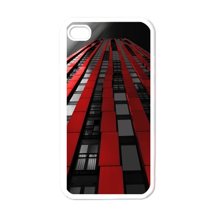 Red Building City Apple iPhone 4 Case (White)