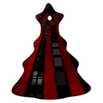 Red Building City Christmas Tree Ornament (2 Sides) Back