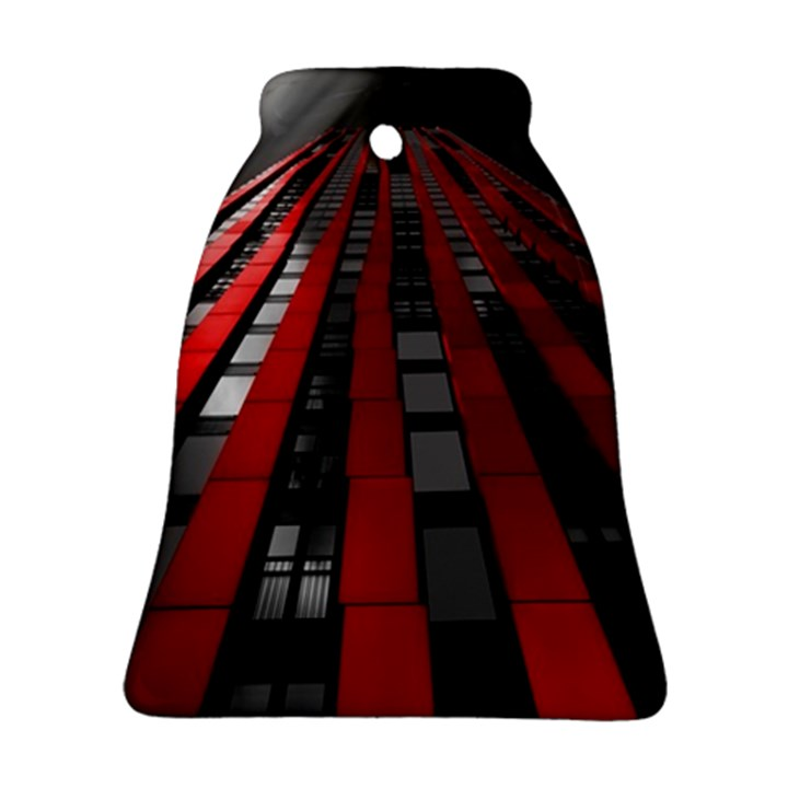 Red Building City Bell Ornament (2 Sides)