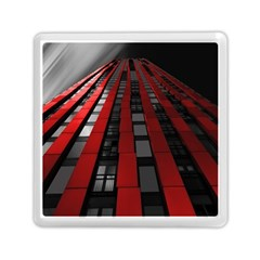 Red Building City Memory Card Reader (Square)