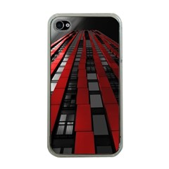 Red Building City Apple iPhone 4 Case (Clear)