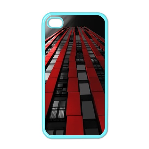 Red Building City Apple iPhone 4 Case (Color)