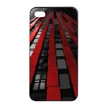 Red Building City Apple iPhone 4/4s Seamless Case (Black) Front