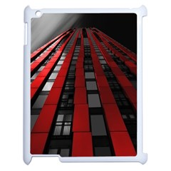 Red Building City Apple iPad 2 Case (White)