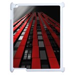 Red Building City Apple iPad 2 Case (White) Front