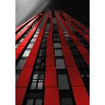 Red Building City Apple 3D Greeting Card (7x5) Inside
